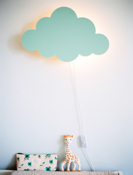 HOME-DZINE | Cloud Decor - Cover up a plain wall light with a cloud panel and fill the bedroom with soft lighting.