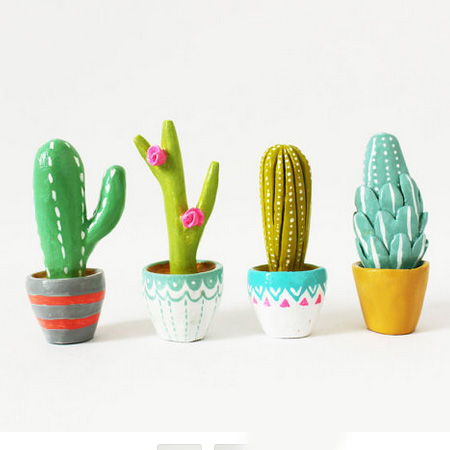 HOME-DZINE | Cactus craft ideas - Craft your own cactus creations with air-dry clay. You can purchase air-dry clay at craft stores and in the craft section of select Builders Warehouse stores, and it's easy and fun to use for a variety of crafty projects.