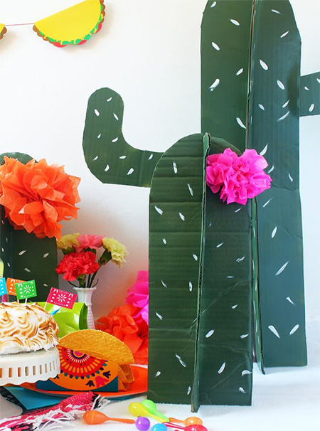 HOME-DZINE | Cactus craft ideas - Let the kids recycle cardboard boxes into their own cactus creations - a great way to keep them occupied during the holidays.
