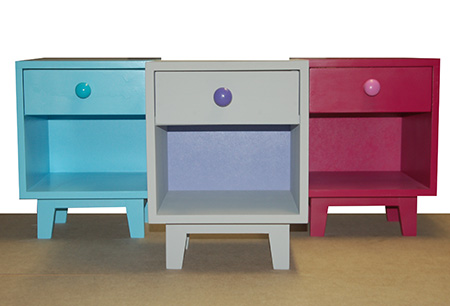 HOME-DZINE | DIY Furniture - Just the perfect size for a toddler's bedroom, you can make a mini bedside cabinet and paint it in your choice of Rust-Oleum 2X colour, or use Rust-Oleum Chalked Ultra Matte Paint.