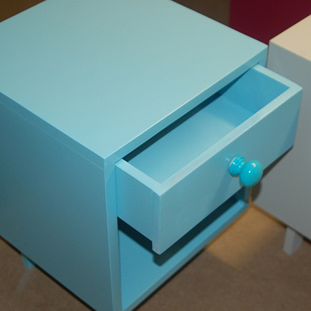 HOME-DZINE | DIY Furniture - With a total height of 40cm, the Tiny Tots Bedside Cabinet is the perfect height for a toddler's bedroom and can be finished with Rust-Oleum spray paint in your choice of colour