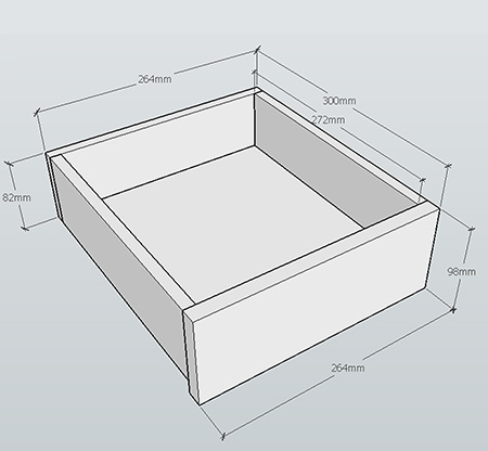 Assemble the drawer by securing the sides