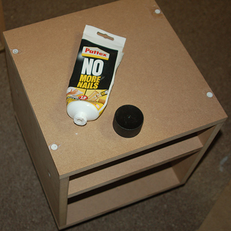 HOME-DZINE | DIY Furniture - GOOD TO KNOW: Covering screws with a small amount of No More Nails adhesive before applying wood filler reduces cracking.
