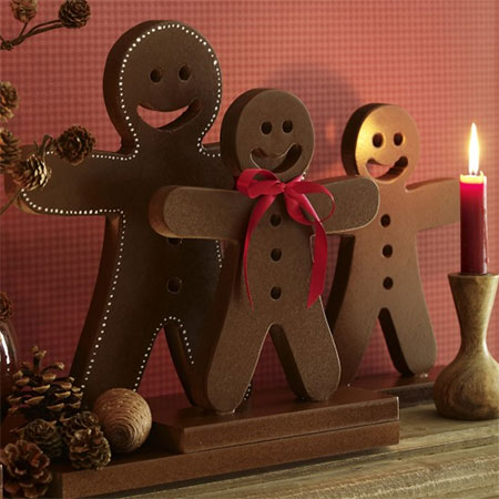 HOME-DZINE | Christmas Crafts - Grab your Bosch power tools to make these gingerbread decorations.