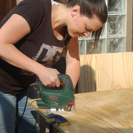While you can have all your timber and board cut to size at Builders or your local timber merchant or hardware store, keep in mind that they don't cut curved or other shapes. When you need to cut corners, curved shapes or circles, or even cut-outs, you will need to use a jigsaw.