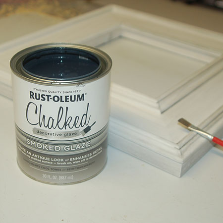 For antique or Shabby Chic effect apply Rust-Oleum Smoked Glaze.