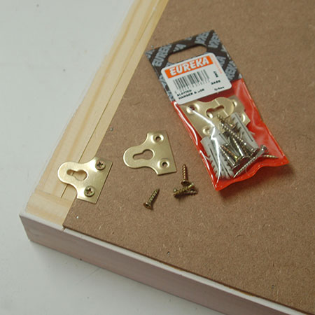 HOME-DZINE | Eureka DIY products - Secure Eureka Slotted Hangers at the top of the backing board.