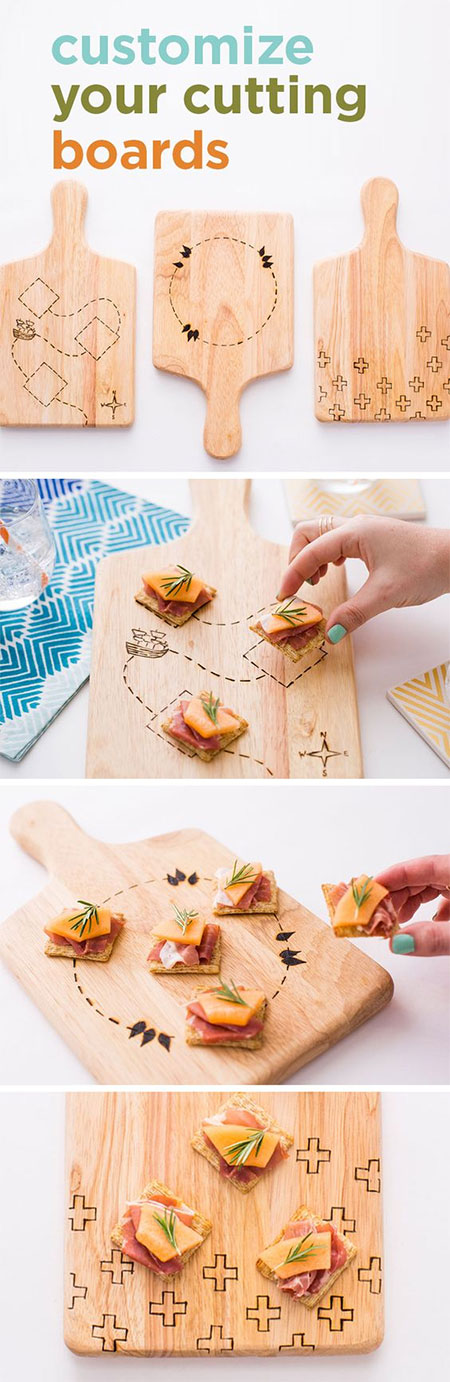 HOME-DZINE | Dremel Crafts - Grab your Dremel VersaTip and cut out some pine boards to make these fun cheese boards.