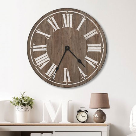 HOME-DZINE | Stencils - Create your own farmhouse clock using reclaimed pallet wood or pine. The Cutting Edge stencil set enables you to stencil different variations of the clock face.