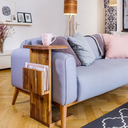 HOME-DZINE | DIY Furniture - This compact coffee table is also a magazine rack and it takes up very little space, making it ideal for a small apartment or townhouse.