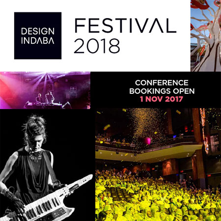 The Design Indaba's iconic conference will be taking place from 21 to 23 February 2018. This year is going beyond design to create a multi-sensory event where you can hear, see, learn and experience the future of creative thinking and design activism.