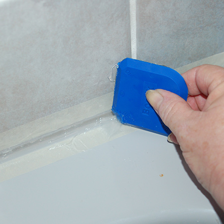 Remove and replace bathroom silicone