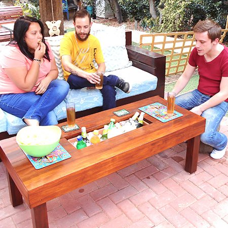 Buy Online: Outdoor Garden Furniture IceBox Table