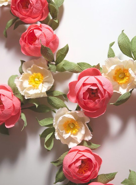 What's nice about making your own crepe paper flowers is that you get to choose your own colours. Create a bold display of vivid peonies for a seasonal display.