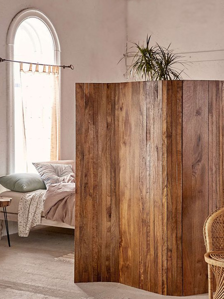 In a studio apartment you may need to create a privacy screen to section of a sleeping area. Again, this is an easy project to do with some pine planks and a basic plan.