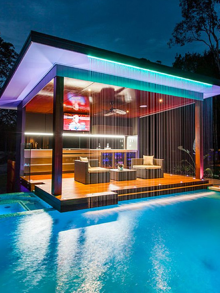 In addition to financial saving, LED lighting is ideally imminently suited for outdoor lighting purposes, such as garden lights, security lights and swimming pool lighting.
