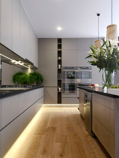Different LED lighting can be installed in a kitchen for accent, decorative and task lighting.