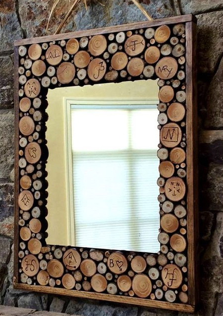 Great way to use wood slices