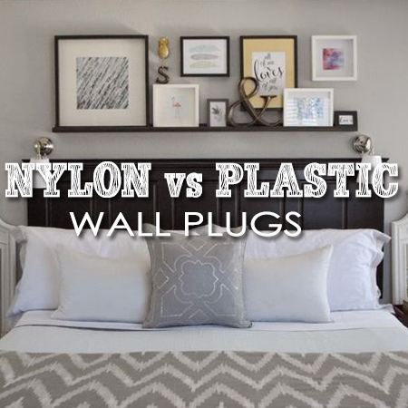 A topic that we discuss regularly at our DIY Divas workshops is the use of plastic or nylon wall plugs for mounting or hanging items on brick walls - why they are different and why it's better to use nylon wall plugs.