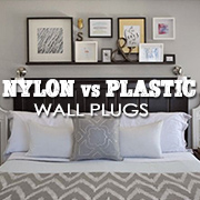 Plastic vs. Nylon wall plugs