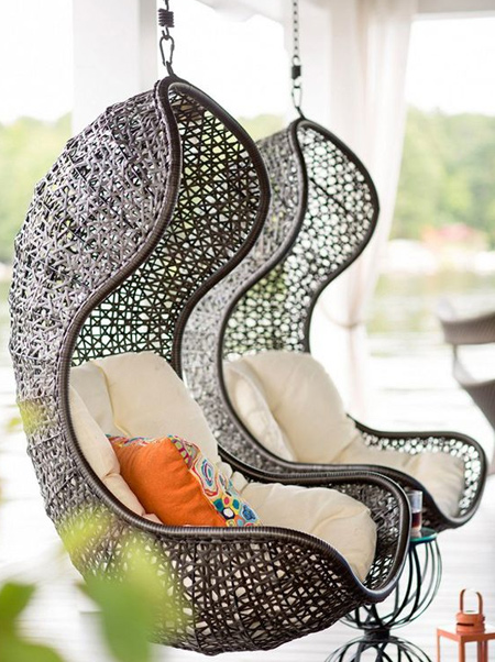 With a freestanding hanging chair you can rock your world