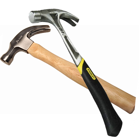 different types and weights of hammers