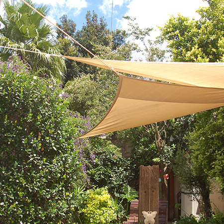 The past couple of summers have definitely been getting hotter, and at a cost of around R500, a shade sail is one of the cheapest and easiest DIY solutions for shade in a garden.