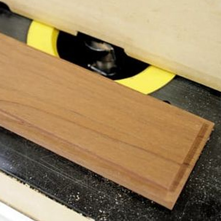 5. To make a lid that sits snug on top of the wood box, use a router or Dremel Trio to rebate around the edge.