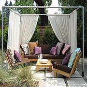 Make a shady cabana for the garden