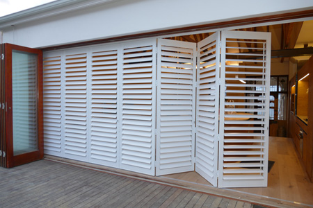 Aluminium Shutters from Finishing Touches offer complete flexibility, light control, and privacy, without blocking light or cool breezes.