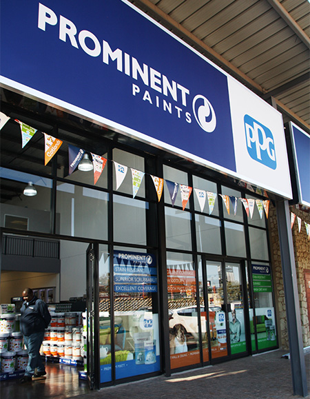 Expanding its footprint into new areas, leading paint manufacturer - Prominent Paints - has begun to launch franchise stores, with the first now open in Midrand; a retail centre that has almost 80 years of collective industry experience between the five staff.