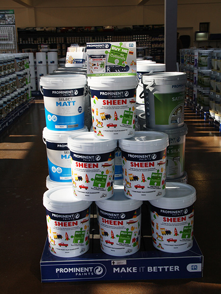 With experts in paint and DIY on hand to assist customers, and offering quotations, specification and deliveries as value added services, Prominent Paints believes that the new franchise store has all the makings of a highly successful paint centre.