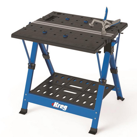 The Kreg Mobile Project Centre is a workbench, sawhorse, assembly table, and clamping station all in one. Plus, it includes clamping accessories, so it's ready to go to work, right out of the box.