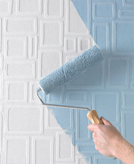 Paintable Wallpaper Can Be Painted Over With Acrylic Paint