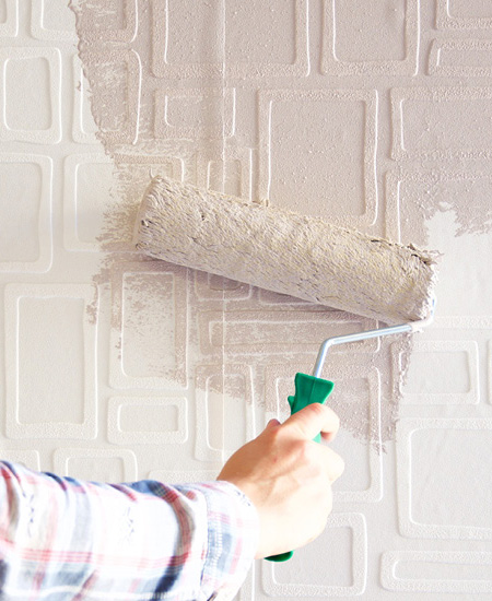 In Store At Your Local Builders Warehouse, Paintable Wallpaper Is Available  In Various Embossed Designs
