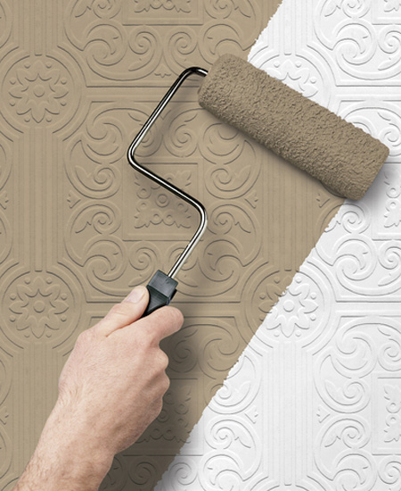 Tips to paint Paintable Wallpaper