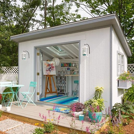 Home dzine garden ideas create the ultimate she shed for Design your own back garden
