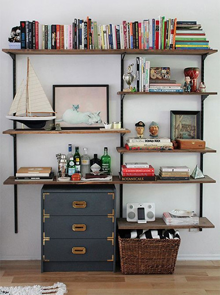 A bookshelf is still one of the most practical pieces of storage furniture you can have in a home. We look at various ideas for vamping up a steel bookshelf.