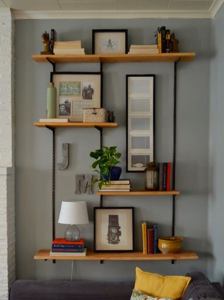 Steel shelving might not look that great when you view it unassembled in the store, but with a bit of tweaking you can transform steel shelving into an attractive storage shelf system that can be used as a display shelf, or for essential storage.