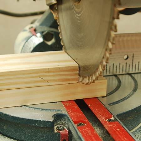 When cutting multiple pieces from a length of pine, and using a mitre saw, I use the first piece as a guide for all the remaining cuts. Align the ends so that they are perfectly flush and push up to the blade before removing the guide piece.