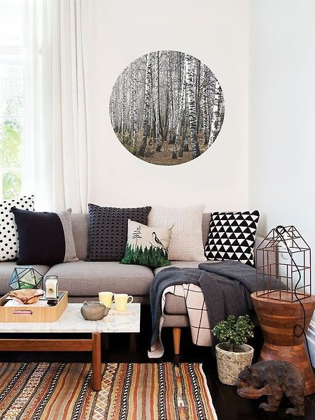Shop at your favourite home decor stores for accessories that can fill up your rental home with personality and charm... your personality, and you will find that rooms will come to live without ever hammering a nail into the wall.