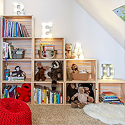A reading corner for children