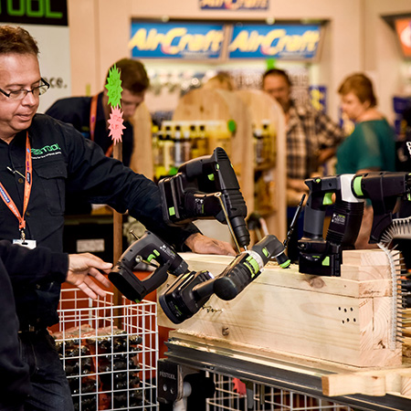 Leading international brands will be on display; Tork Craft, Bessey, Triton, Pro-Tech router bits, Kreg, Festool, Saw Stop, Armor, Nes, Olfa. Felo, Rawl Plug, Alpen, Drill Doctor, Spring Tool, MPS, and many more international brands and products will be demonstrated by the Working With Wood team.