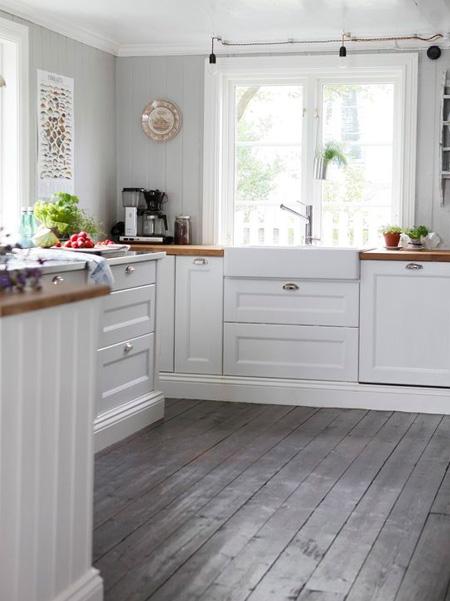 Home Dzine Home Improvement Paint Wood Floors In White