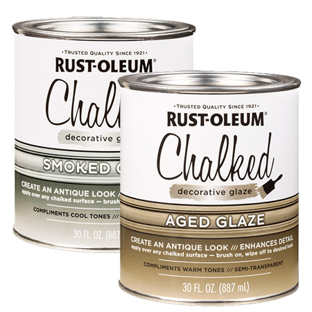 HOME-DZINE | With Rust-Oleum Aged Glaze and Smoked Glaze you can add a vintage touch to your Chalked chalk paint projects.