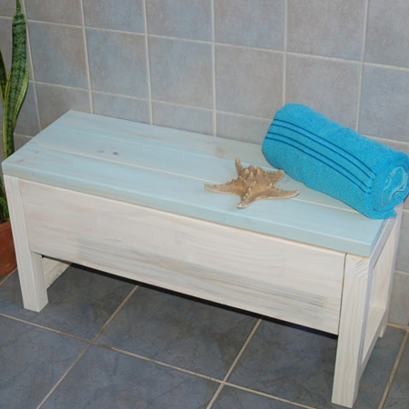 DIY Divas in Durban make a Bathroom Storage Bench