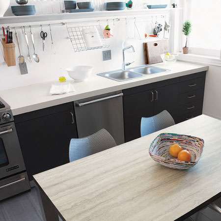 Home dzine kitchen replace kitchen countertop for Can you replace kitchen cabinets without replacing countertop
