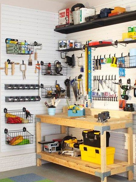 Set aside a weekend where the entire family, and perhaps your friends, can all get together and help clean out and organise your garage. The majority of storage ideas shown here are easy to implement and won't cost much, so you have no excuse for that perfectly organised garage.