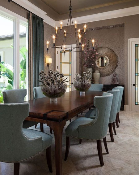 HOME-DZINE - Dining Rooms | Select a chair style that not only complements the table but also your lifestyle. You don't want to spend your life cleaning upholstery fabric in a house full of children and pets, so shop wisely and consider your wants and needs - weighing up what best fits.