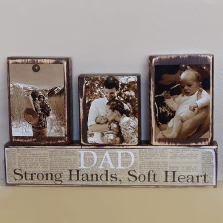 HOME-DZINE | glue memories onto scraps of wood for fathers day gift